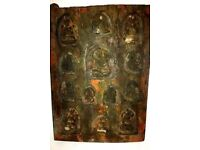 AUTHENTIC ANTIQUE CHINESE MING DYNASTY CARVED BUDDHA WOOD PANEL /STATUE
