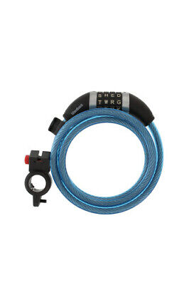 Wordlock CL-409-BL 4-Letter Combination Bike Lock Cable, Blu
