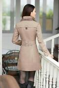 Womens Double Breasted Long Coat