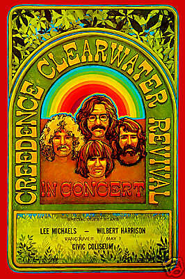John Fogerty & Creedence Clearwater Revival  Canada Concert Poster 70