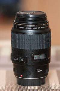 NEW: CANON 100mm F2.8 USM MACRO, B+W Filter, and Lowepro Case