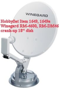 "Winegard RM-4600 DM46 18"" crank-up satellite dish Bell Shaw"