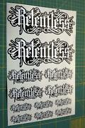 Relentless Stickers