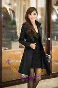 Women's Long Black Trench Coat