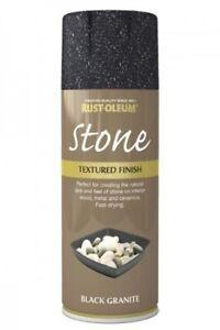 Stone effect black granite rust oleum spray texture feel - Peinture effet pierre ...