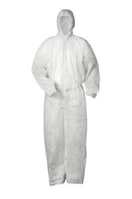 Weiß 3 Stück Anzug (3, 10 oder 20 Stück PP Overall Einmalanzug Einweganzug weiß Einweg Anzug Kapuze)