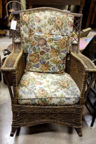 Antique Wicker Rocking Chair Ebay