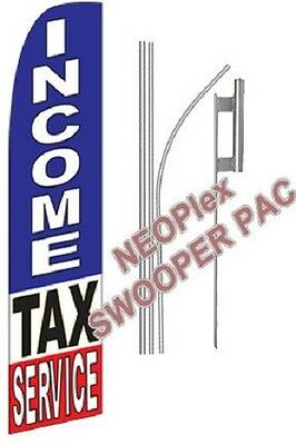 Complete 15 Income Tax Service Kit Swooper Feather Flutter Banner Sign Flag