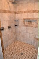 Professional tile installation with 27 years experience