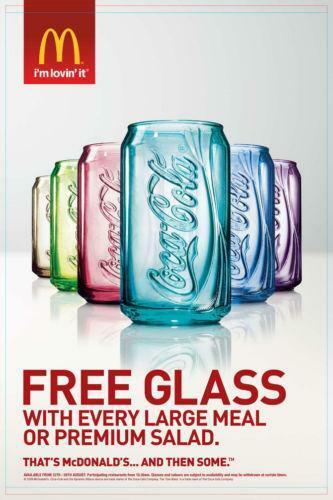 b237a764fddf McDonalds Coca Cola Glasses