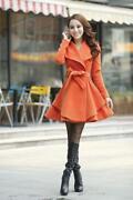 New Womens Long Coat Wool