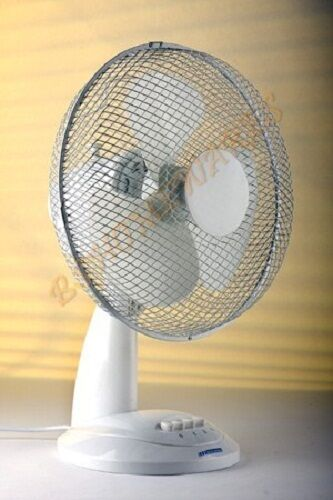 "9"" Inch Desk Fan Oscillating 2Speed Settings Portable Home"