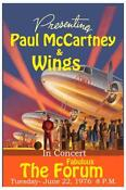 Paul McCartney Wings Poster