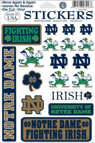 Notre Dame Stickers Ebay