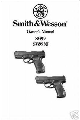 S&W SW99 Walther P99 Manual New Reproduction