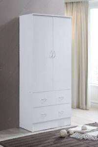Armoire Wardrobe Closet Storage Cabinet Clothes Organizer Wood Bedroom Furniture