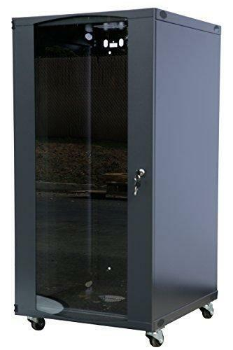 15U Wall Mount Network Server Cabinet Rack Enclosure glass Door Lock