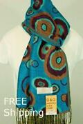 Turquoise Brown Scarf
