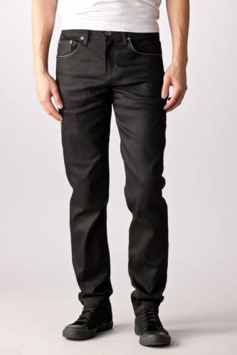 Mens Black Leather Skinny Jeans