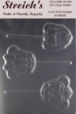 MICKEY AND MINNIE MOUSE Lollipop Chocolate Candy Molds - Minnie Mouse Lollipop Mold