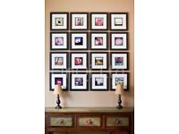 Picture frames (black, square format)