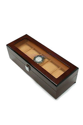 Wood Effect Watch Storage Display Box Case Organiser CLEARANCE (RWD5)