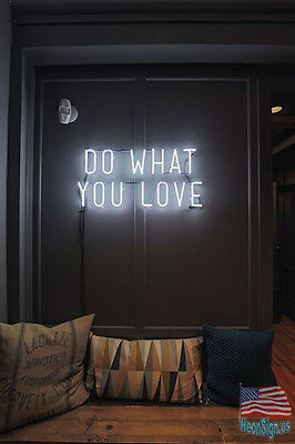 """Do What You Love Wall Decor Neon Sign 14'x10"""" From USA"""