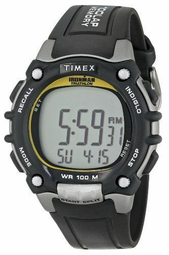 Timex T5E231, Men's Ironman 100-Lap Resin Watch, 5 Alarms, Indiglo