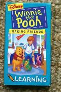 Winnie The Pooh Making Friends VHS