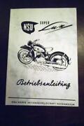 NSU Betriebsanleitung