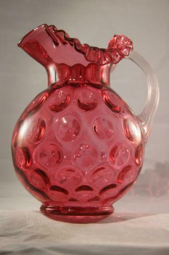 Fenton Coin Dot Pitcher Ebay