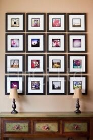 Black wooden photo frames 30 x 30cm / 12 x 12 inches