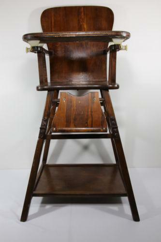 Antique Wooden High Chair  cfb98fb1a8