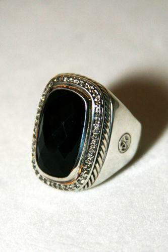 David Yurman Black Onyx Ring Ebay
