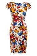 Warehouse Butterfly Dress