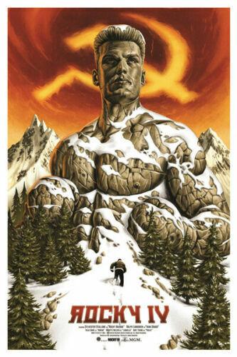 W120 Rocky 4 Classic Movie Art Silk Poster