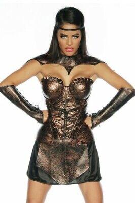 Atixo Gladiatorenkostüm Corsage, Rock, 2 Manschetten, - Gladiatoren Kostüm