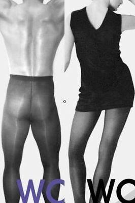 6090 WOMAN Sensation schwarz Gr. 1 / 38-40 S-M Levee Strumpfhose für Mann + Frau