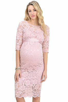 Hello Miz Womenu0027s Baby Shower Floral Lace Maternity Dress Pink Large