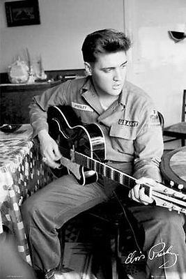 Elvis Presley US Army poster 24 x 36 Rock Music Memorabilia Entertainment Print