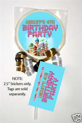 Candyland Baby Shower (12 Candy Land Birthday Party Favors Personalized 2.5