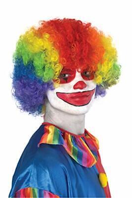 Super Scary Clown (Banana Costume Super Afro Scary Clown 70's Disco Halloween Wig, Rainbow)