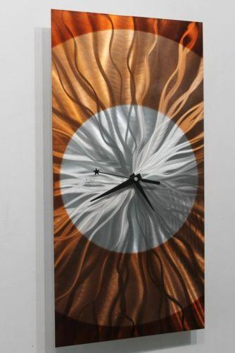 Metal Wall Art Clock Ebay