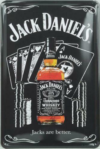 jack daniels tin sign ebay. Black Bedroom Furniture Sets. Home Design Ideas