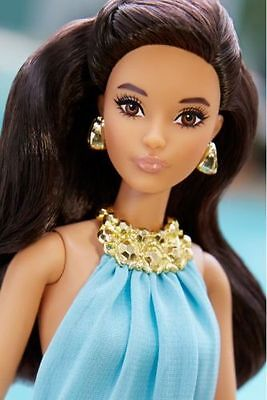 2016  Barbie The Look Pool Chic Brunette/New/NRFB/Mint/Age 14+