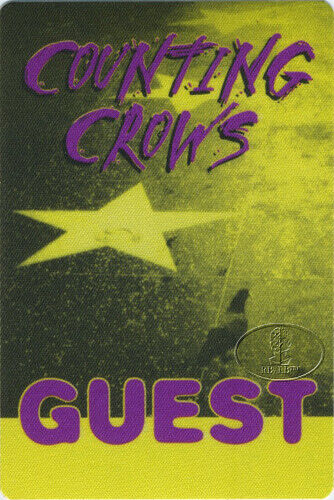 Counting Crows 1996 Backstage Pass Guest Yellow
