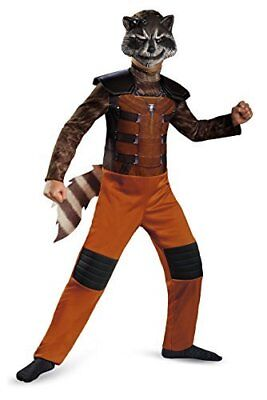Rocket Raccoon Costume Guardians of The Galaxy Halloween Dressup for 4-6 yo Kids