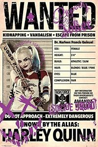 Suicide Squad Harley Wanted Maxi Poster 61 x 91.5 cm