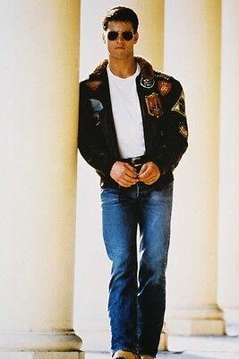 Tom Cruise Top Gun 11x17 Mini Poster cool pose in flying jacket (Tom Cruise Top Gun Sunglasses)