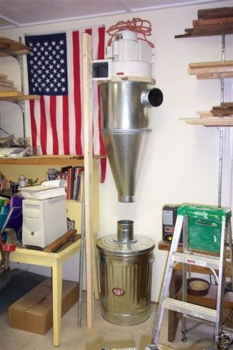 Cyclone Dust Collector - 6 inch inlet on the right